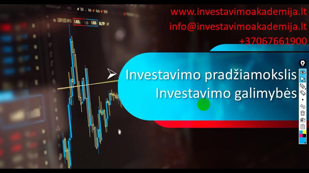 interneto investavimo galimybės