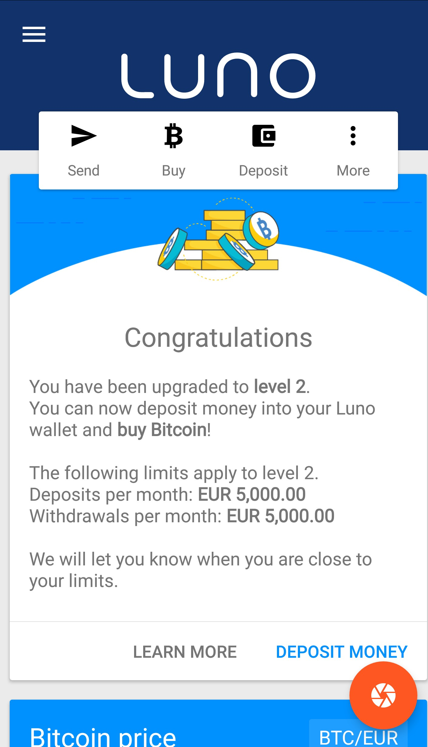 nemokama Bitcoin piniginė
