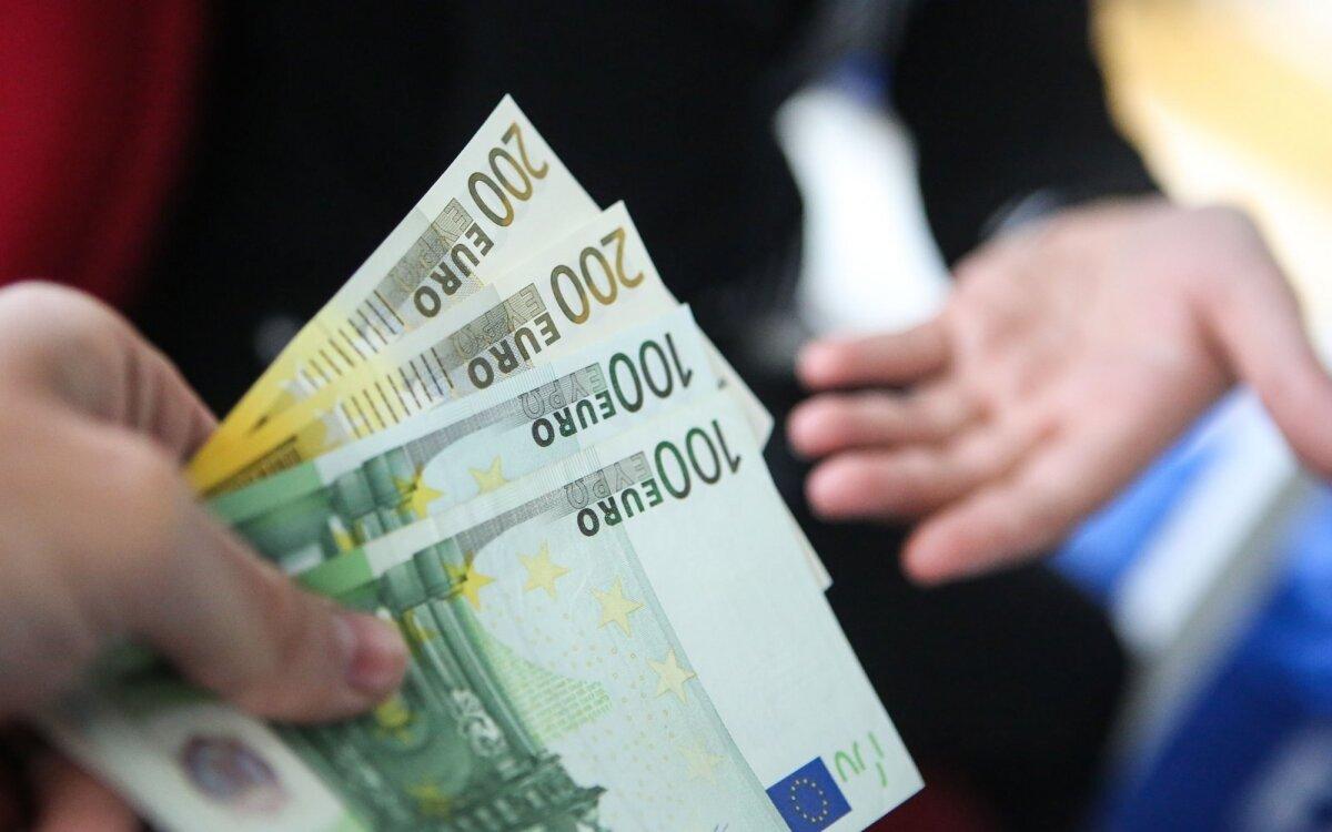uždarbis euro tinkle)