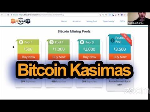 vietinio bitkoino palaikymas)