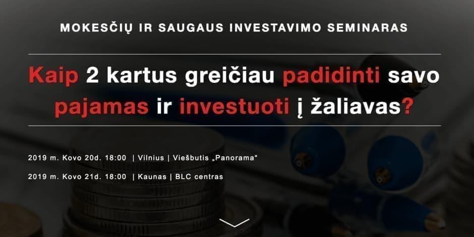investuoti pajamas